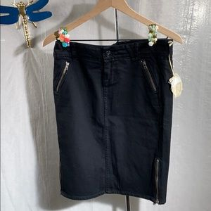 William rast black denim pencil skirt